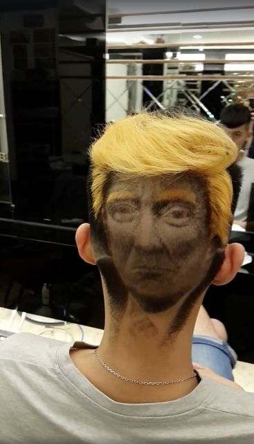 Donald Trump haircut