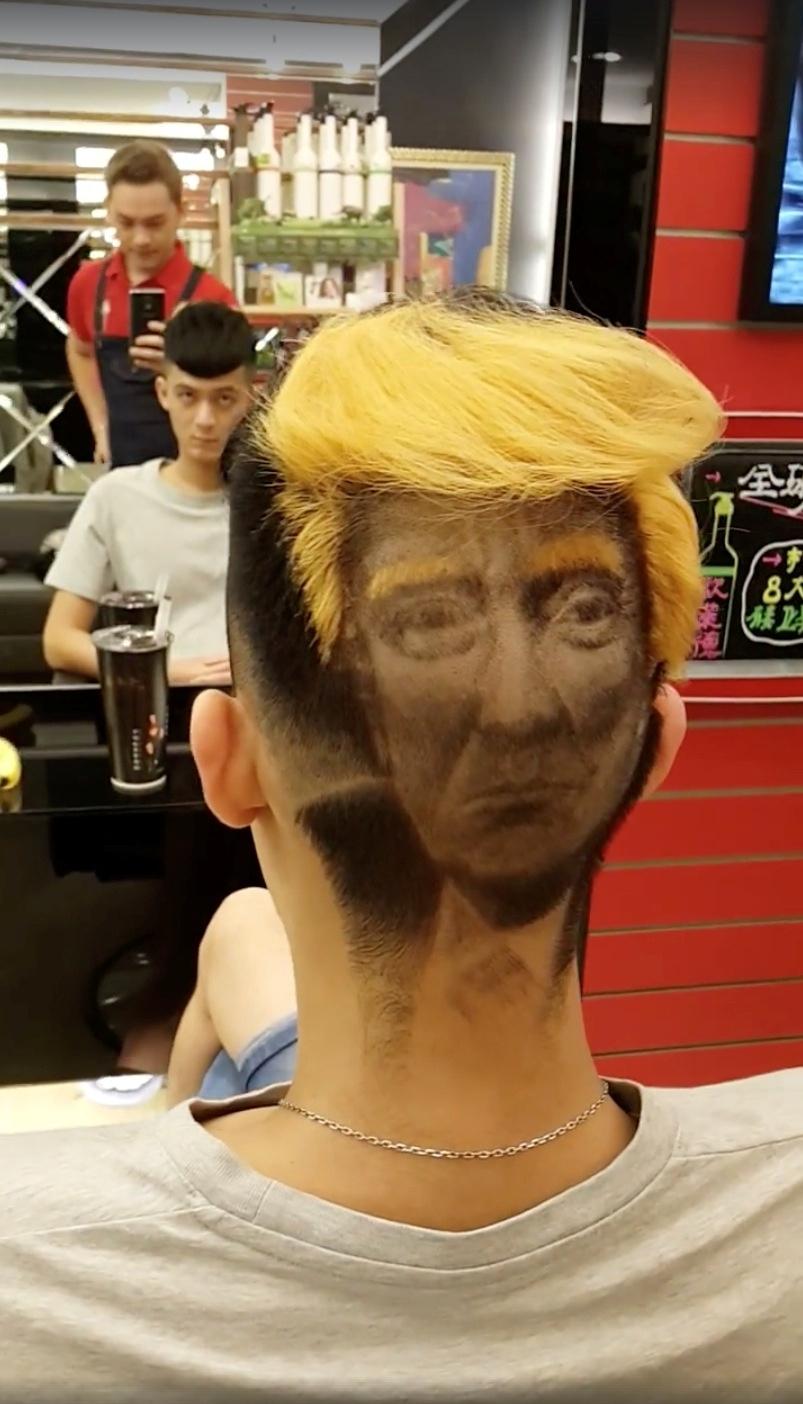 Trump hair taiwan