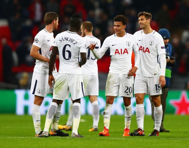 Tottenham celebrating