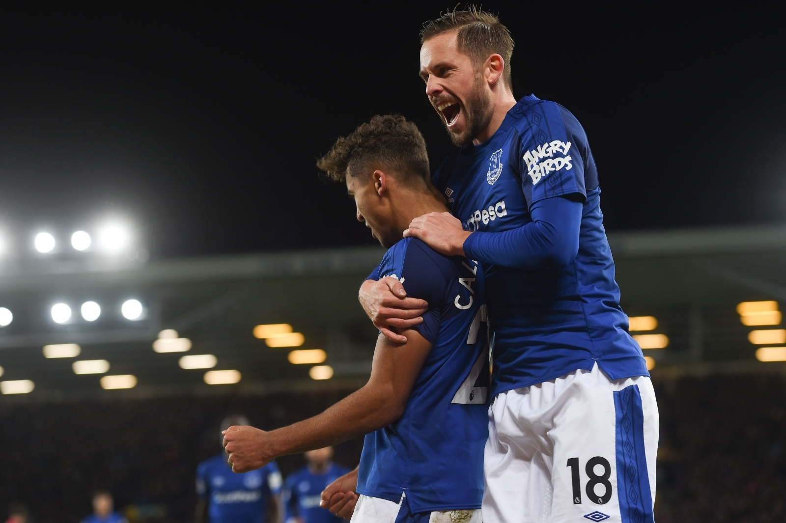 Dominic Calvert-Lewin and Gylfi Sigurdsson