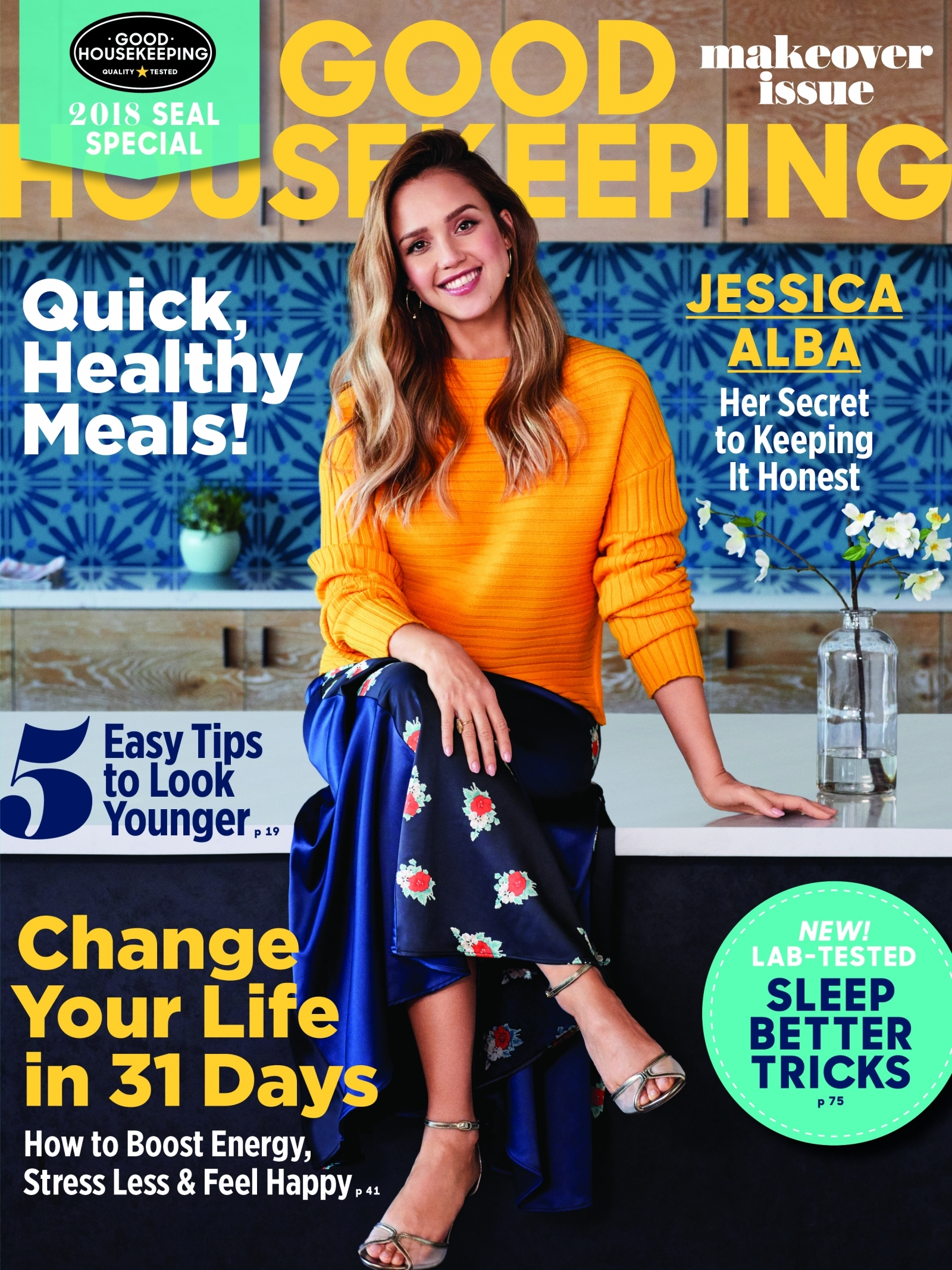 Pregnant Jessica Alba Stuns On Good Housekeeping Cover And