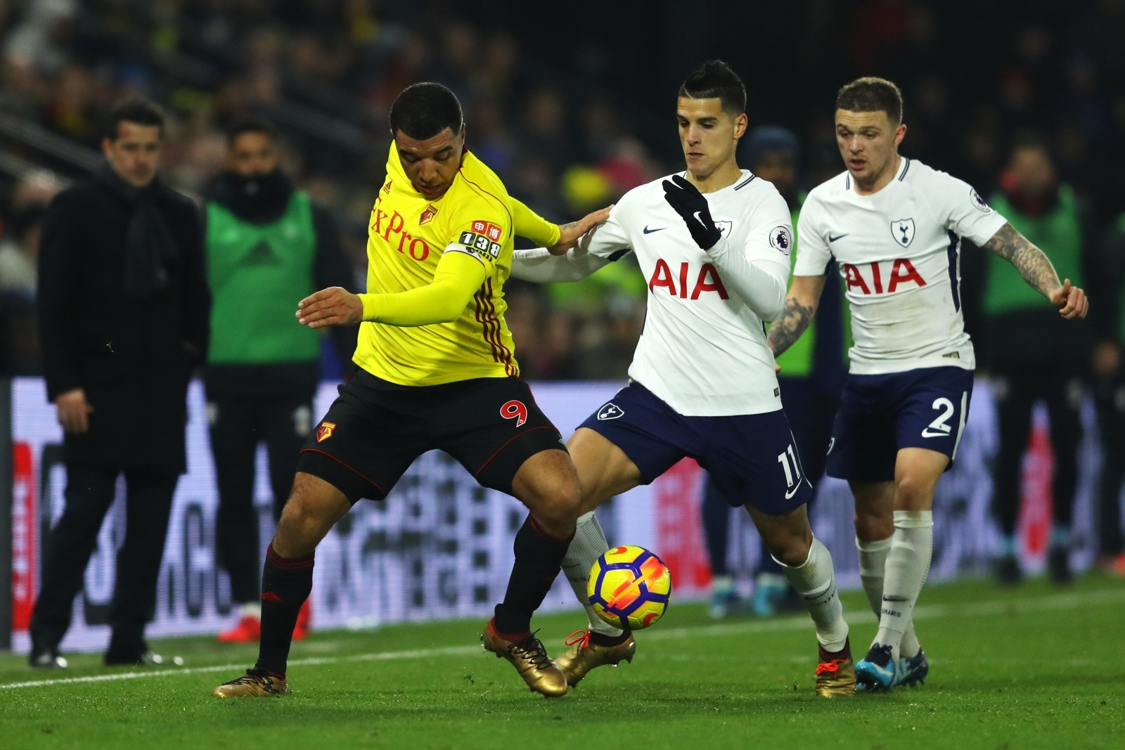 Troy Deeney, Erik Lamela and Kieran Trippier