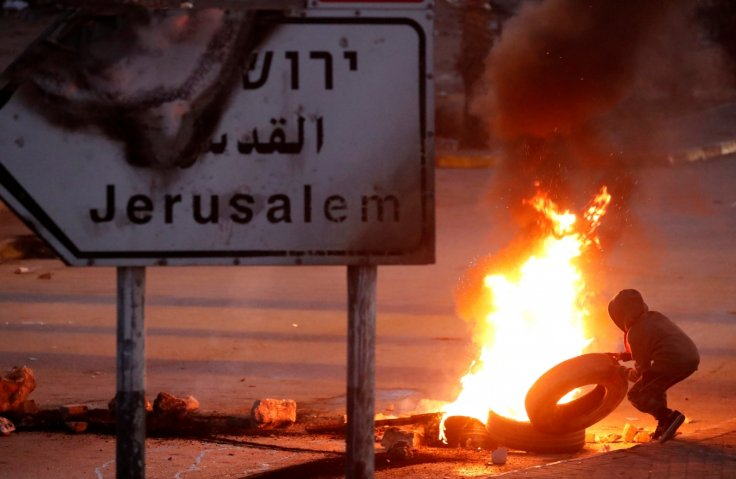 Jerusalem Israel capital Palestinians protest Trump