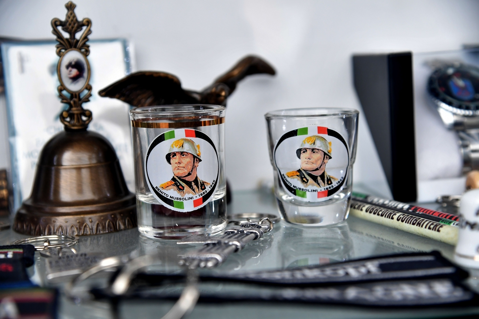 Mussolini shot glasses