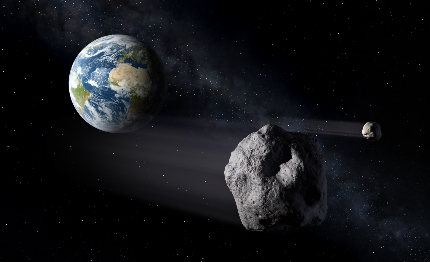Asteroid whizzed past Earth