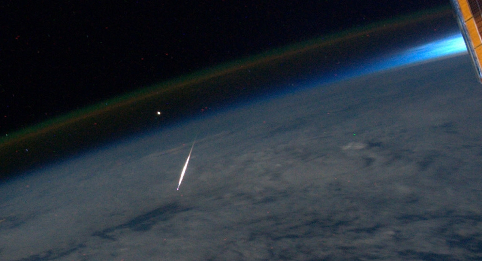 Shooting star from space station