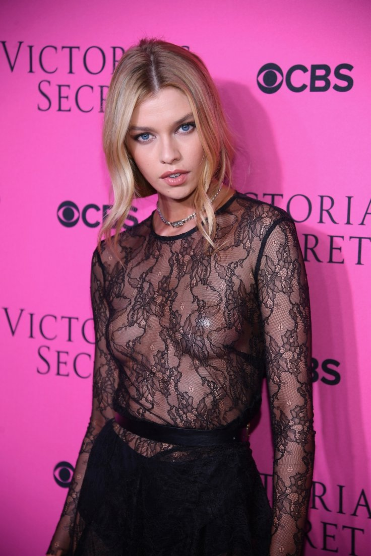 Stunning Stella Maxwell Poses In See Through Slit Dress