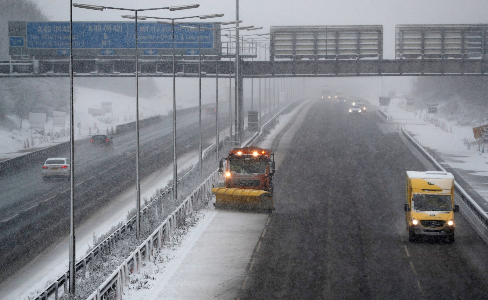 Heavy snow, high winds wreak havoc across Europe