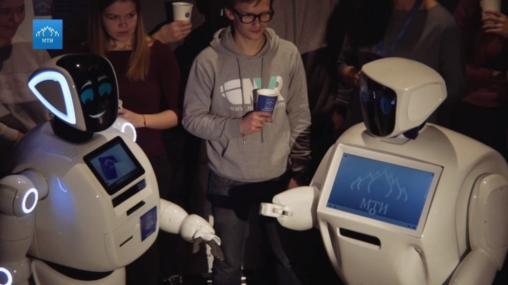Watch these Russian robots lock horns in an epic rap battle