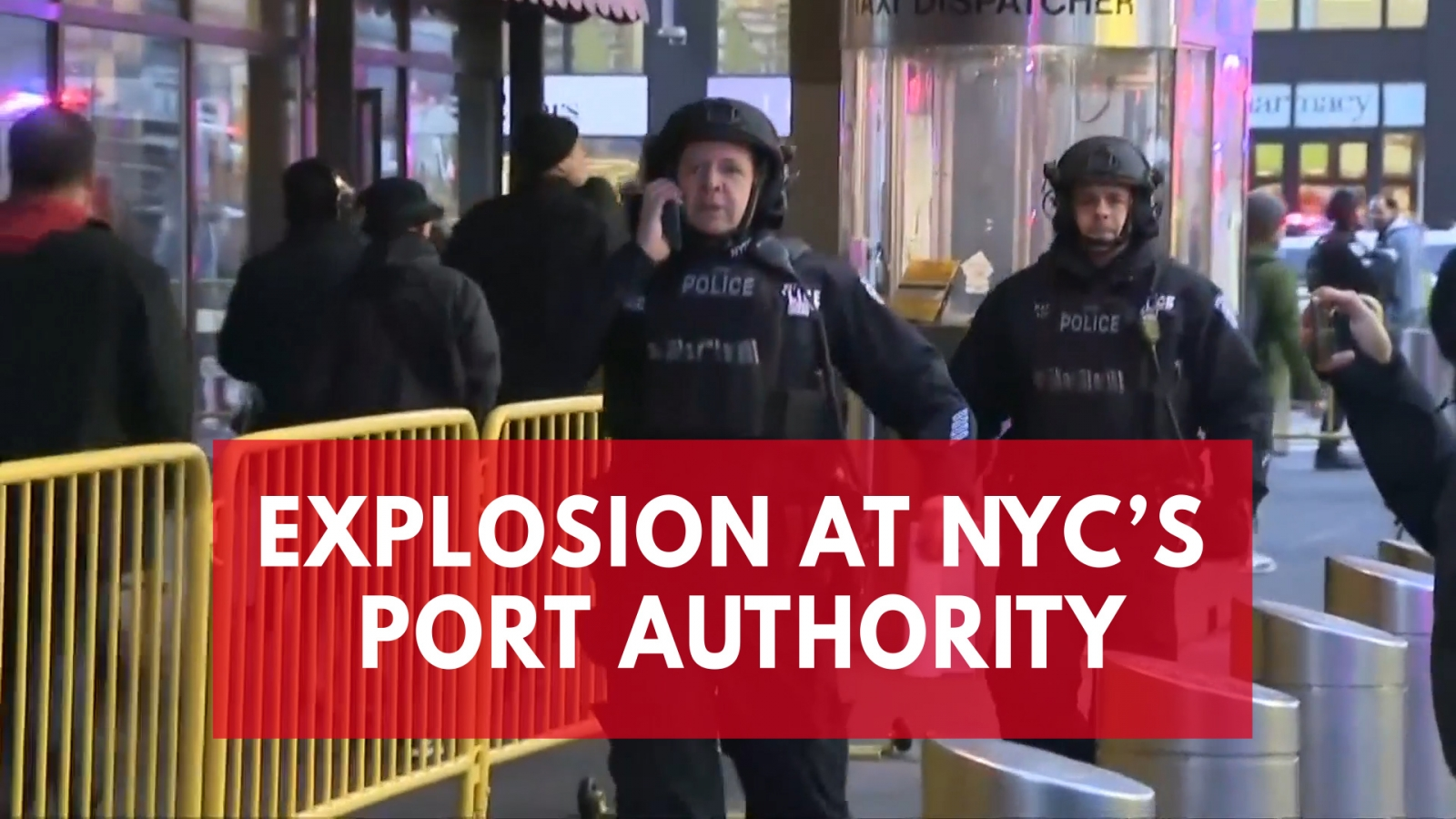 New York explosion: Video shows police response, people being evacuated from Port Authority