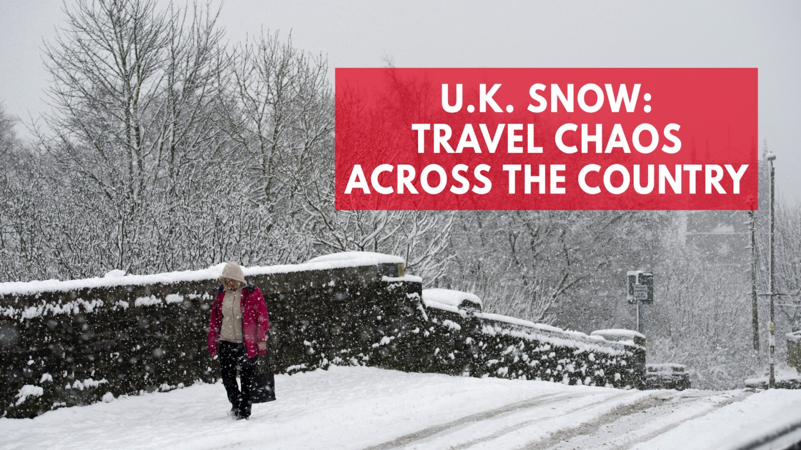 UK weather warning after recent snowfall blanketed the country