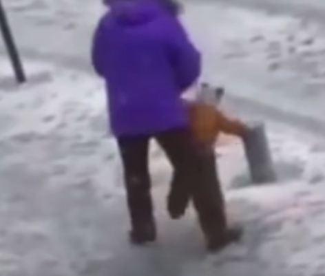 Father kicking son