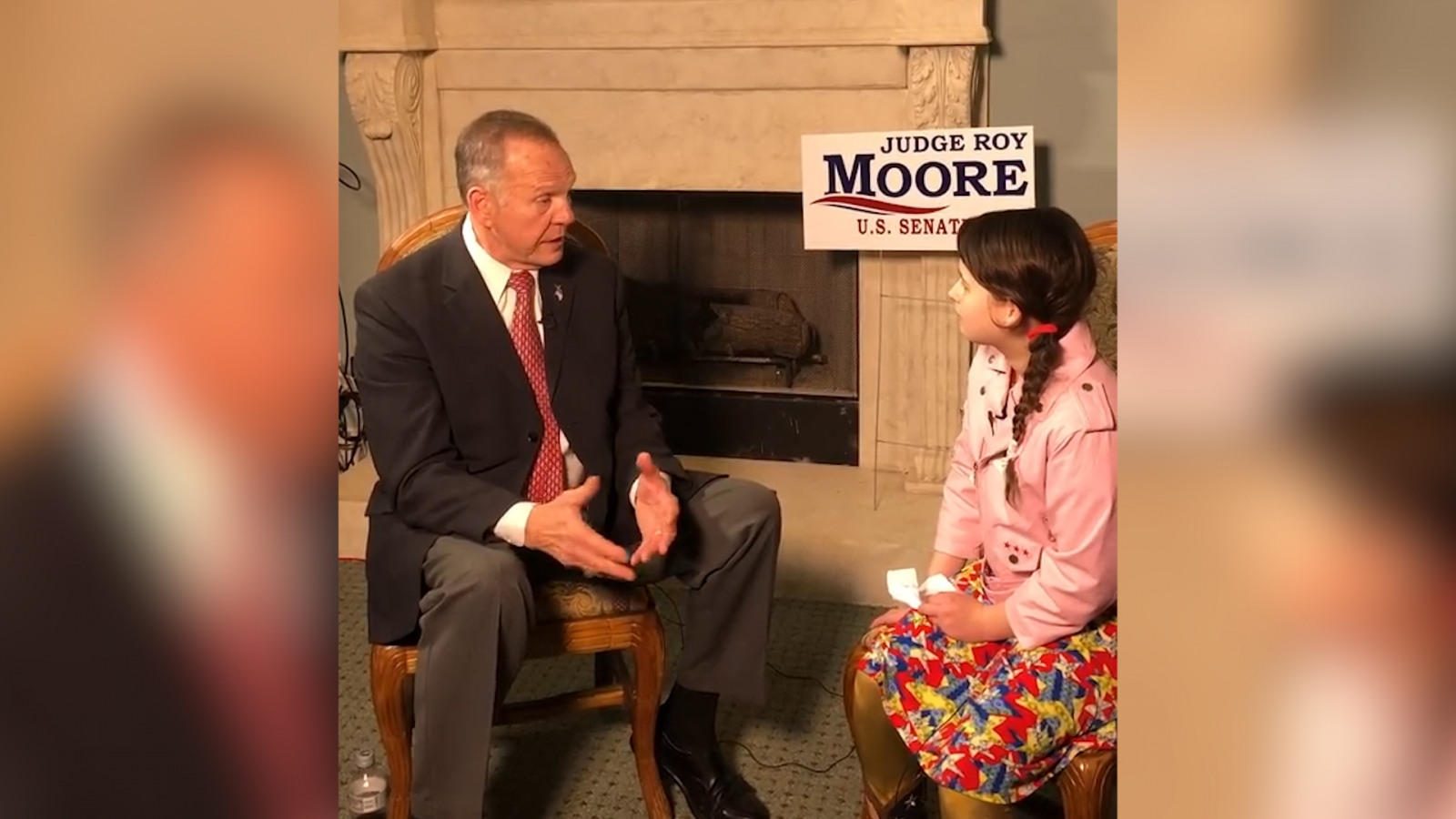 Group supporting Donald Trump sends 12-year-old girl to interview Roy Moore
