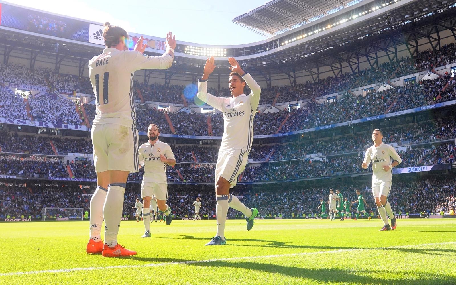 Gareth Bale and Raphael Varane