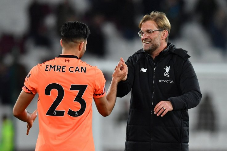 Emre Can and Jurgen Klopp