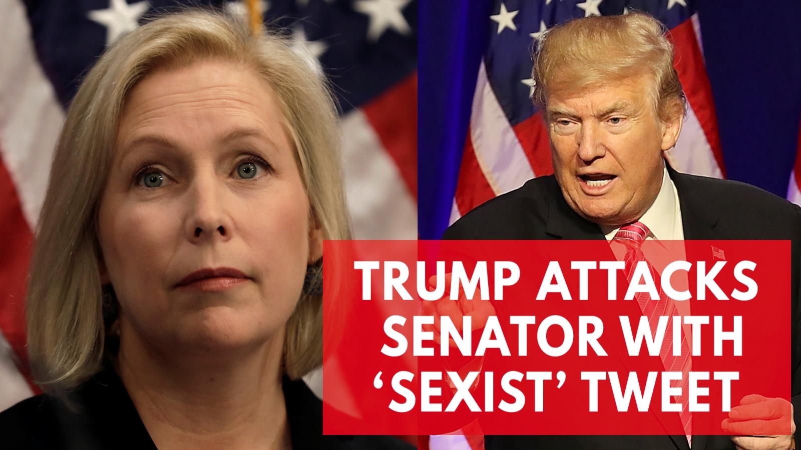 US Senator calls President Trump's tweet a 'sexist smear'