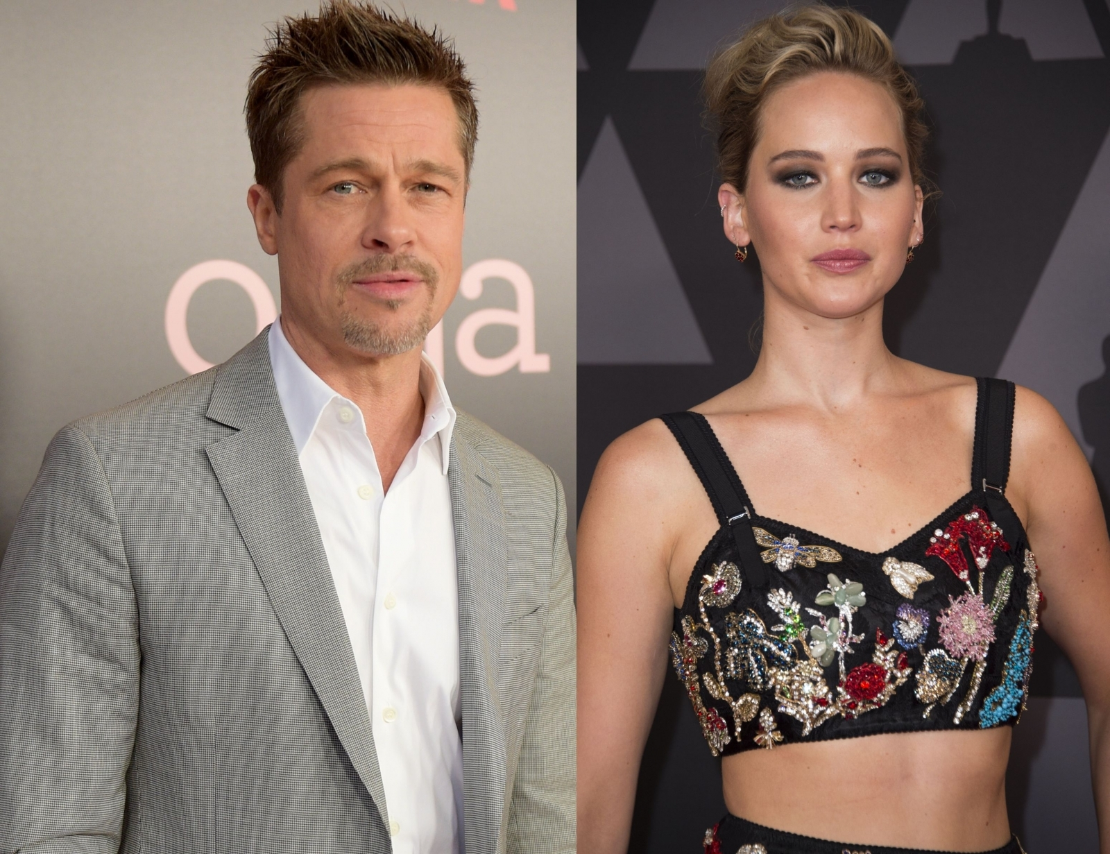 Brad Pitt and Jennifer Lawrence