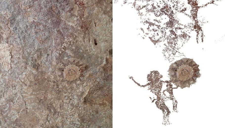 Cave art on Kisar
