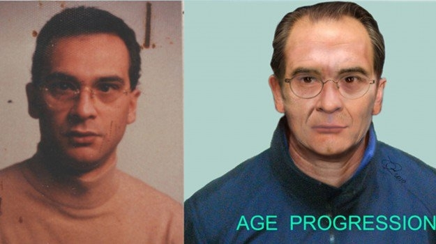 Mafia boss Matteo Messina Denaro as he was in the early 1990s (l) and how Police think he may look now