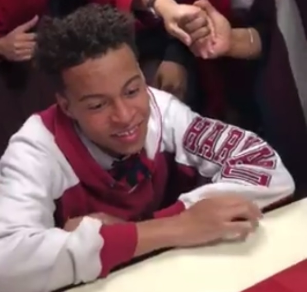 Student gets into Harvard