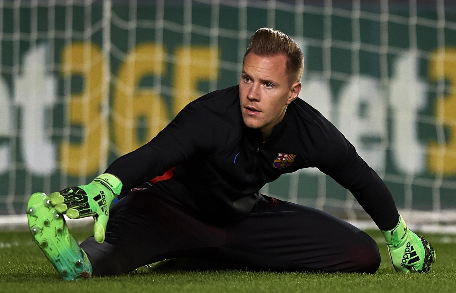 Marc-Andre Ter Stegen back in Barcelona training before