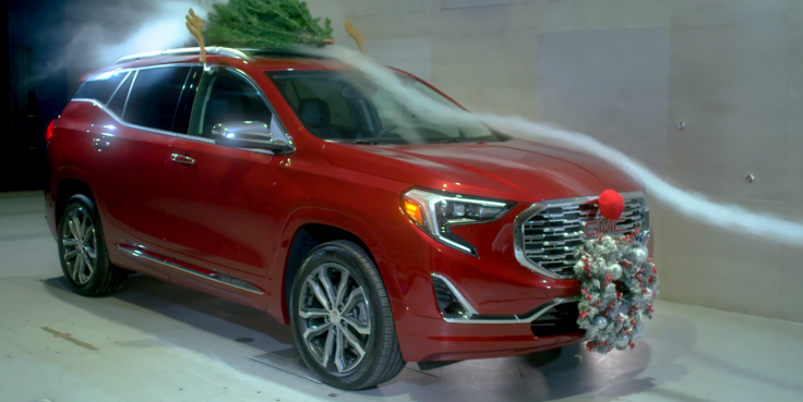 ornaments on your car are bad for fuel efficiency and create a lot of drag general motors screengrab - Christmas Decorations For Your Car