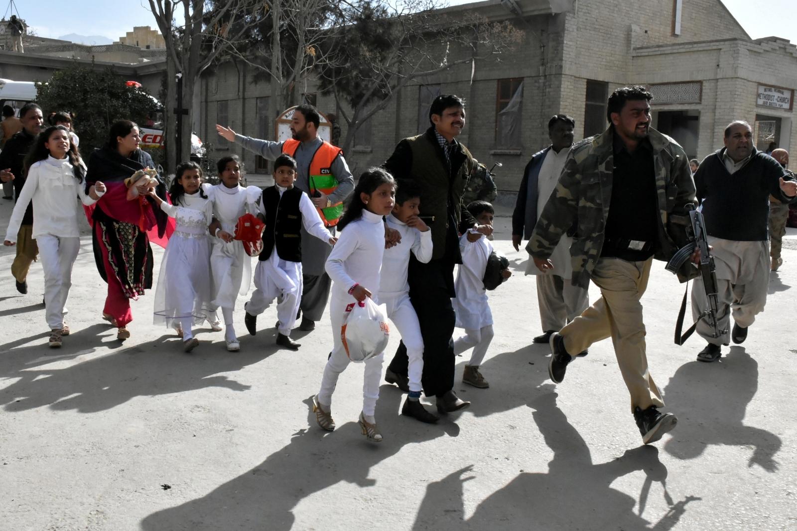 Pakistan Quetta church blast