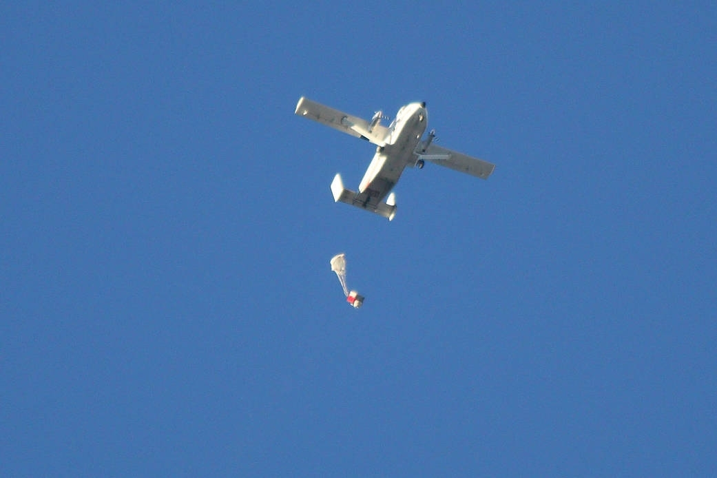 Orion parachute failure test