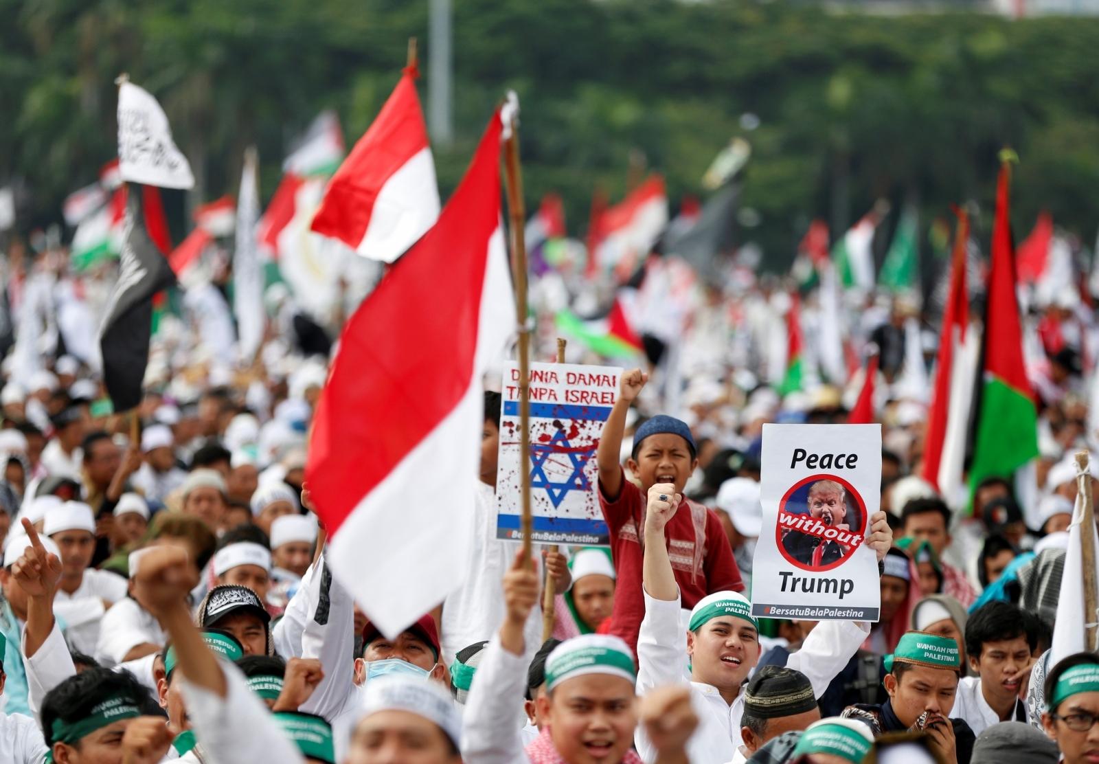 Indonesia anti-Trump protests