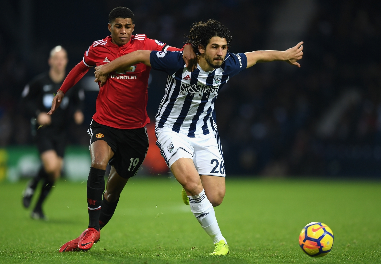 Marcus Rashford and Ahmed Hegazi