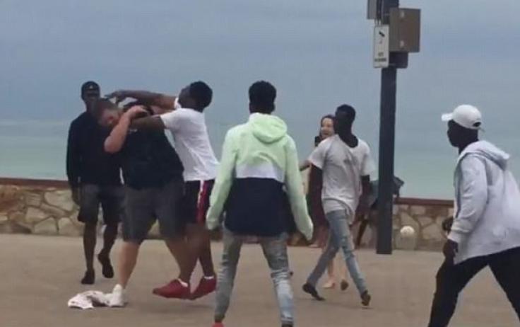 Glenelg Beach brawl