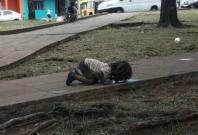 Street girl argentina puddle