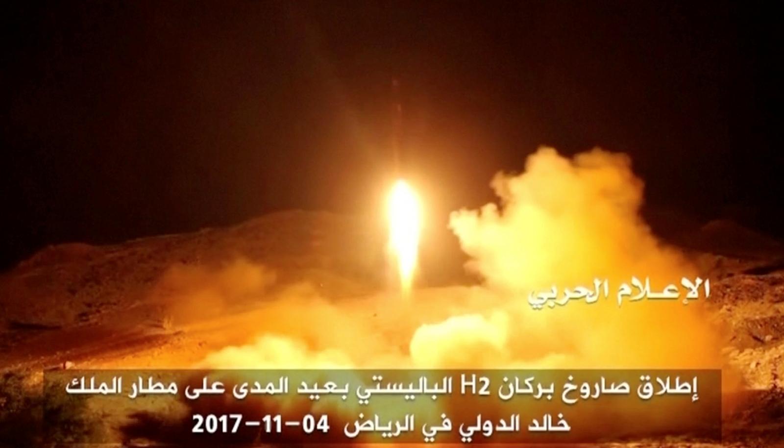 Yemen Houthi missile against Saudi Arabia