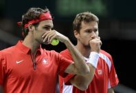 Roger Federer and Marco Chiudinelli