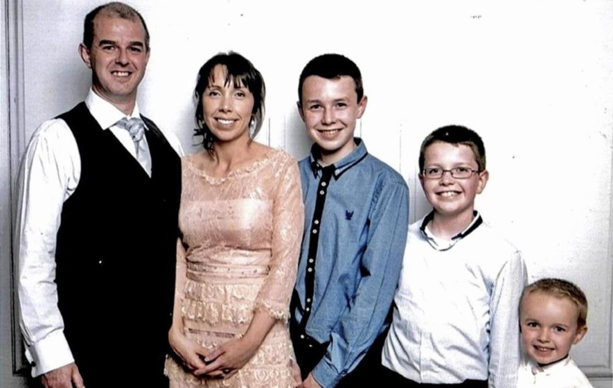 Alan Hawe With His Wife Clodagh And Their Children Liam