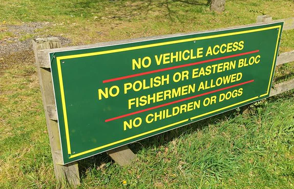 'no Polish' sign in Oxfordshire