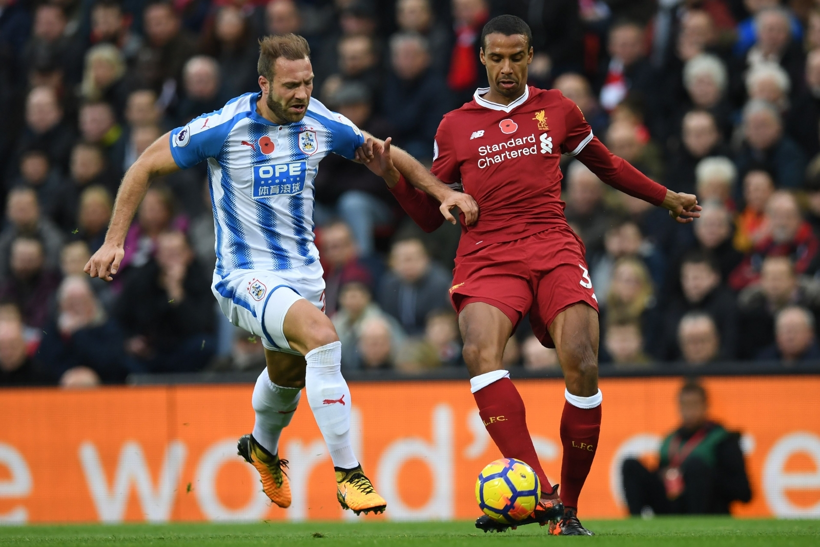 Laurent Depoitre and Joel Matip