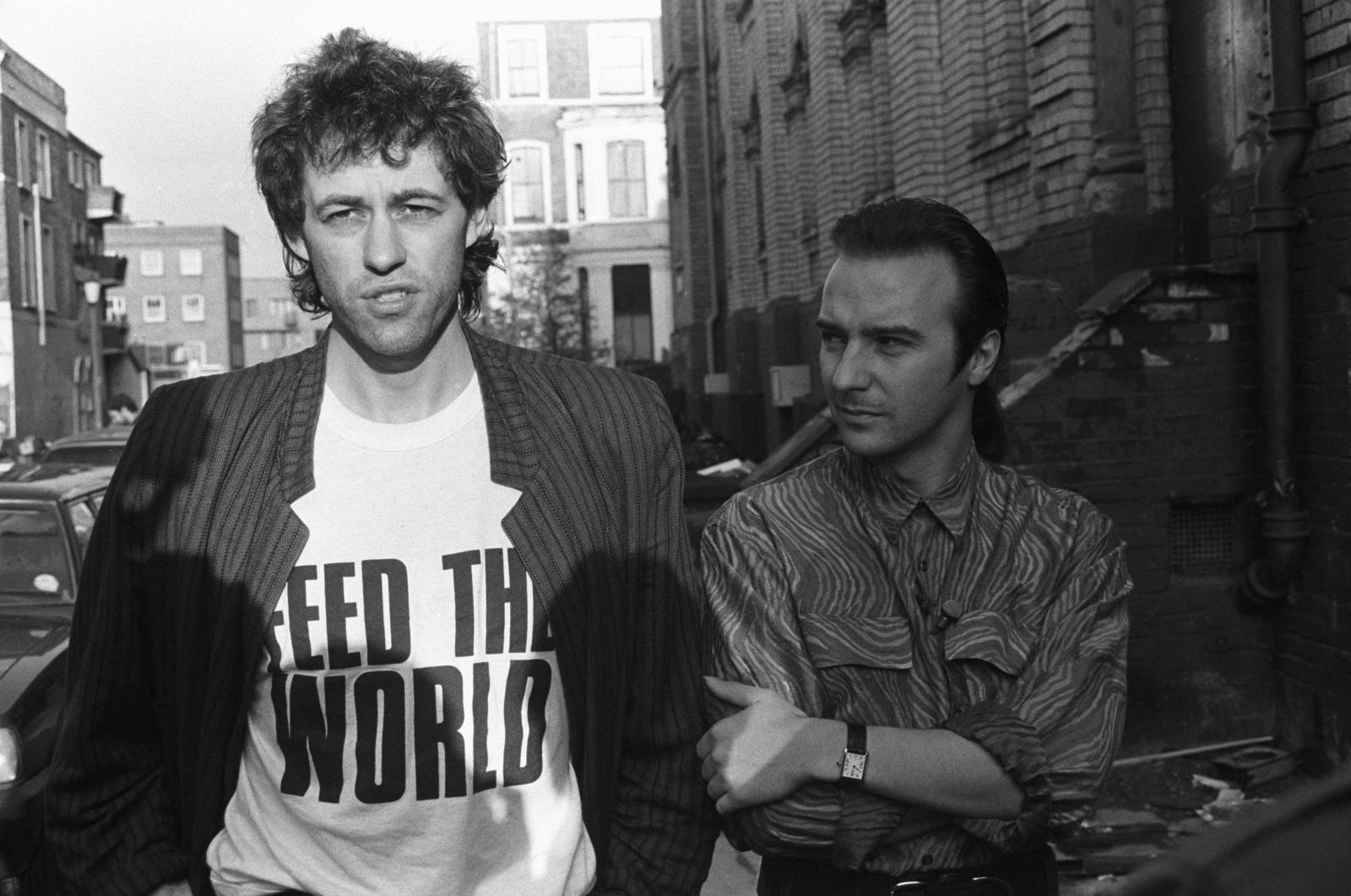 Bob Geldof and Midge Ure