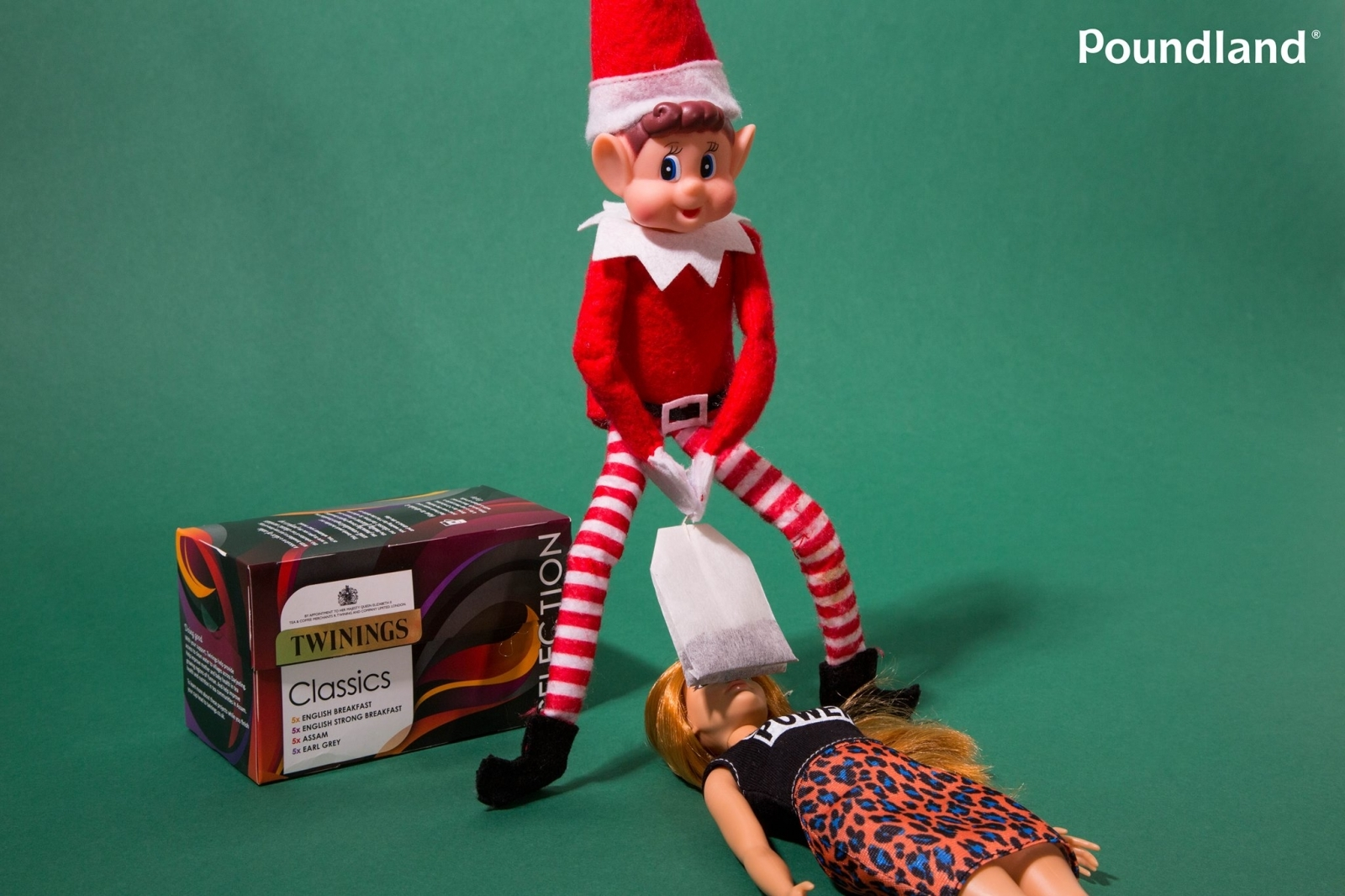 Poundland elf on the shelf
