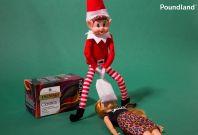 Poundland elf on the shelf