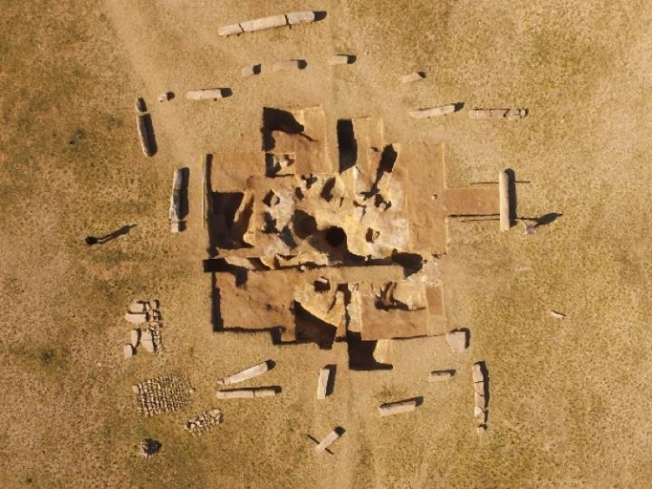 Drone Aerial Shot of the Ancient Turkish Ruins