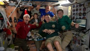 Christmas on Space Station