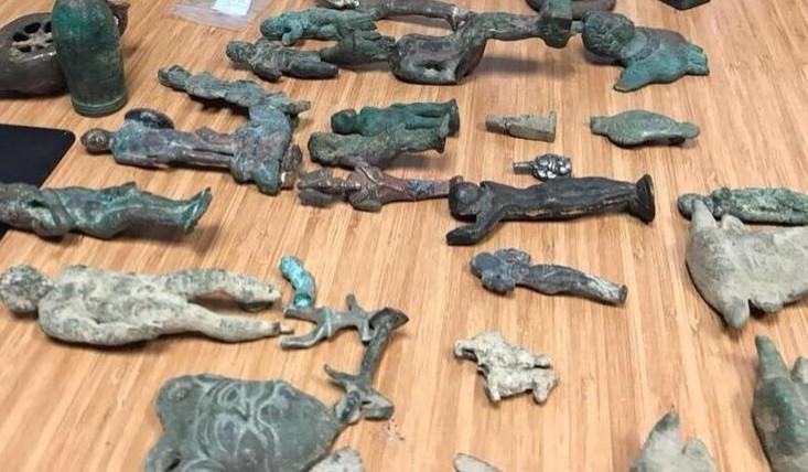 Ancient artefacts seized