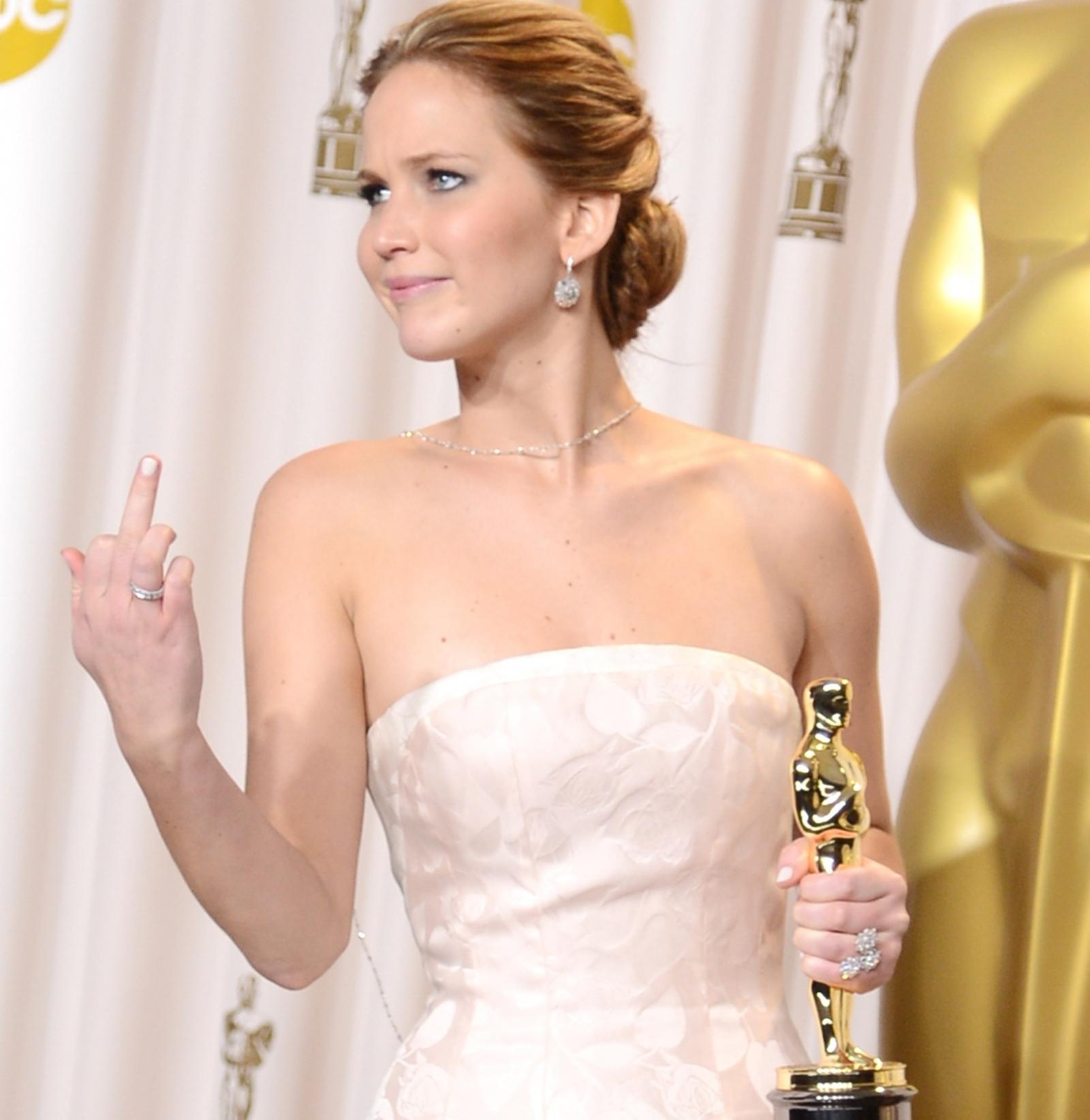 Jennifer Lawrence swearing