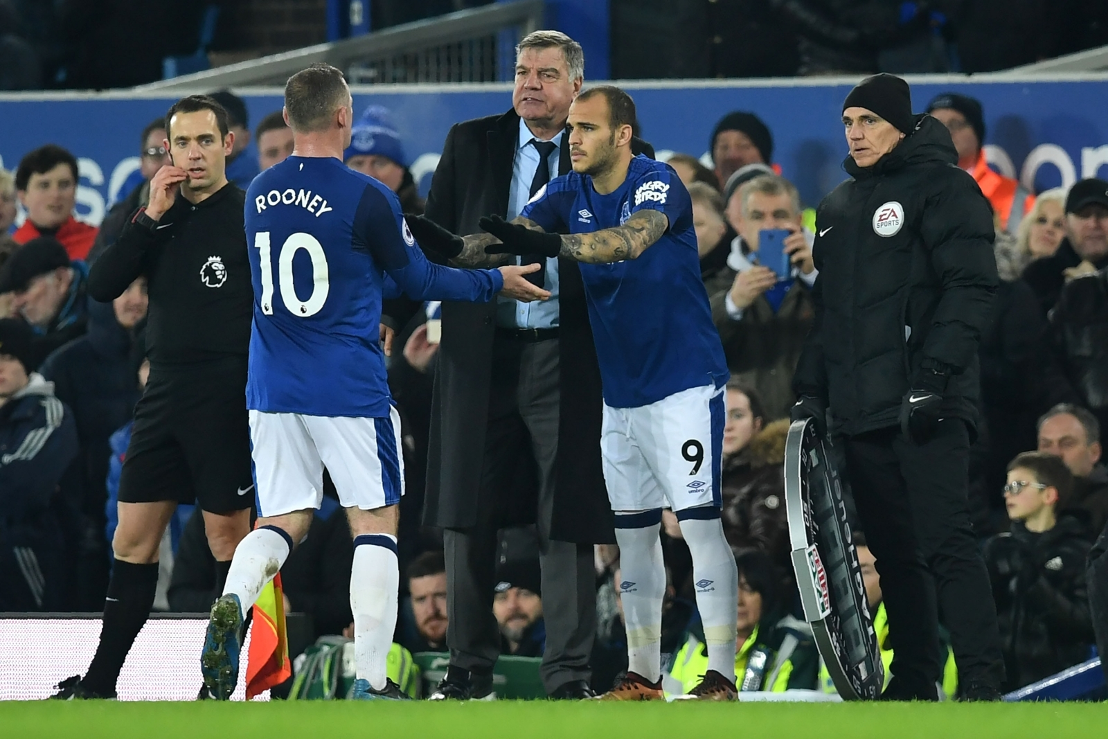 Wayne Rooney, Sam Allardyce and Sandro Ramirez