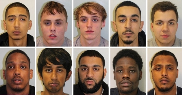 Convicted: (top row left to right) Chris Costi, Bobby Kennedy, Alfie Kennedy, Adam Atallah, Dylan Castano-Lopez, (bottom row left to right) Courtney White, Mominur Rahman, Mohammed Anwar Hussain, Chang Mabiala and Mohammed Imran Ali.