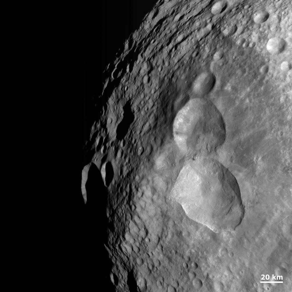 Asteroid snowman