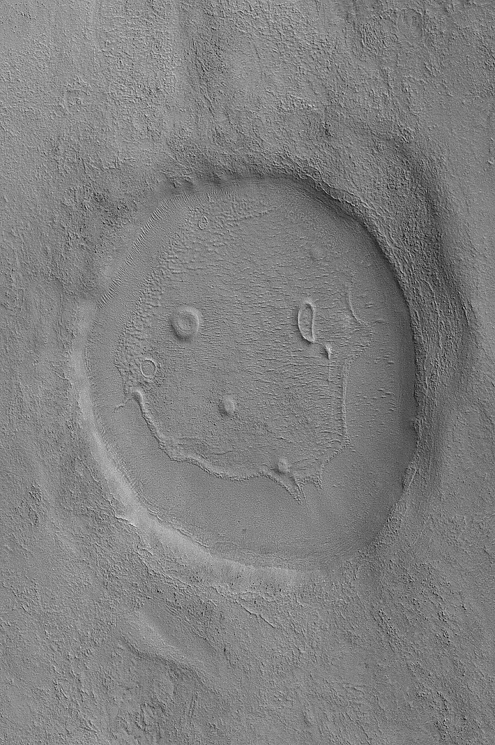Smiley face on Mars