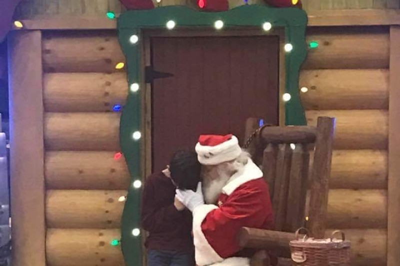 Santa praying with 12-year-old