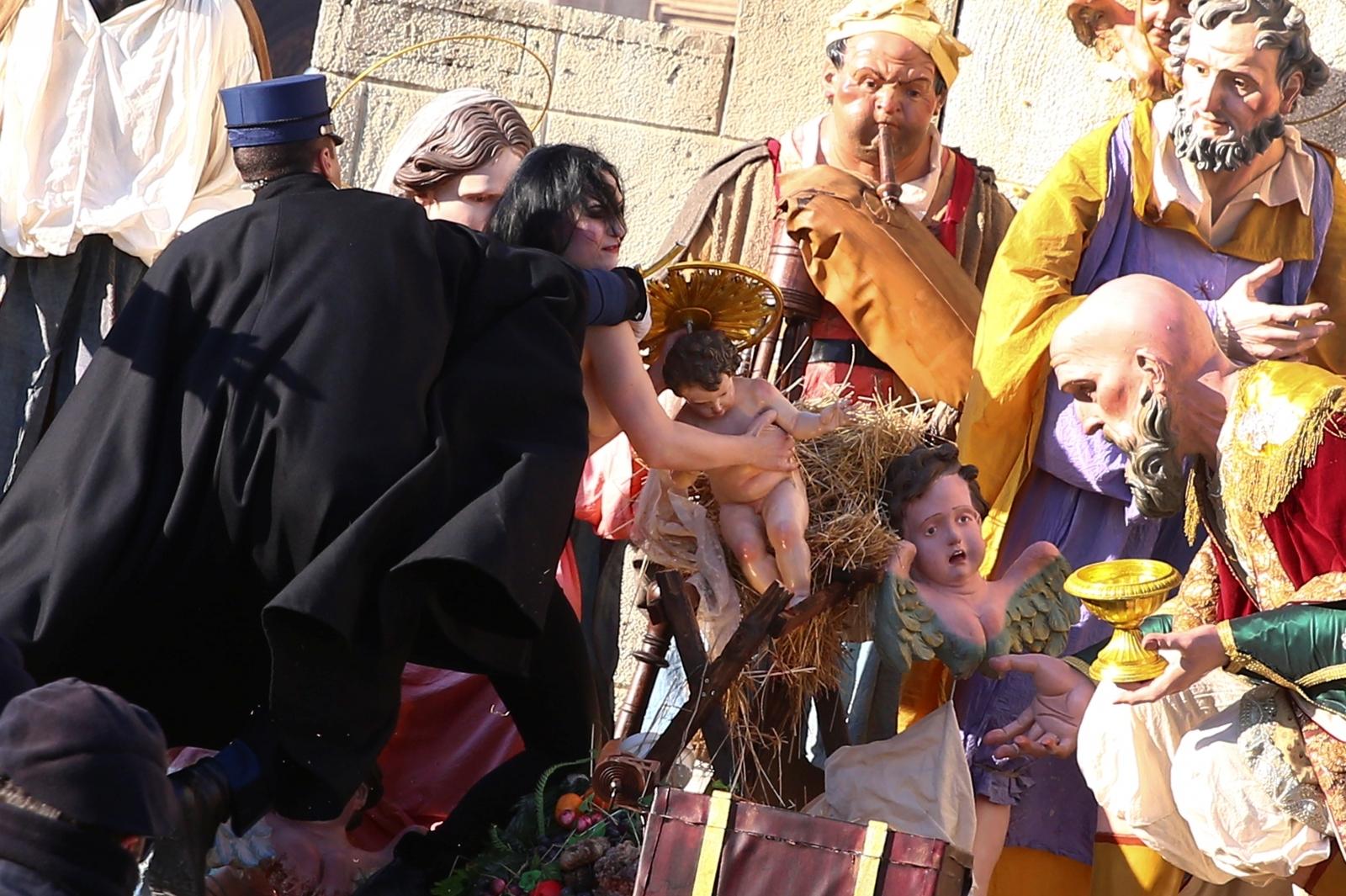 Femen Vatican Baby Jesus Nativity,